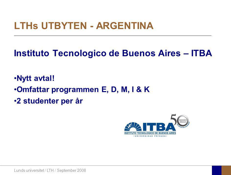 LTHs UTBYTEN - ARGENTINA