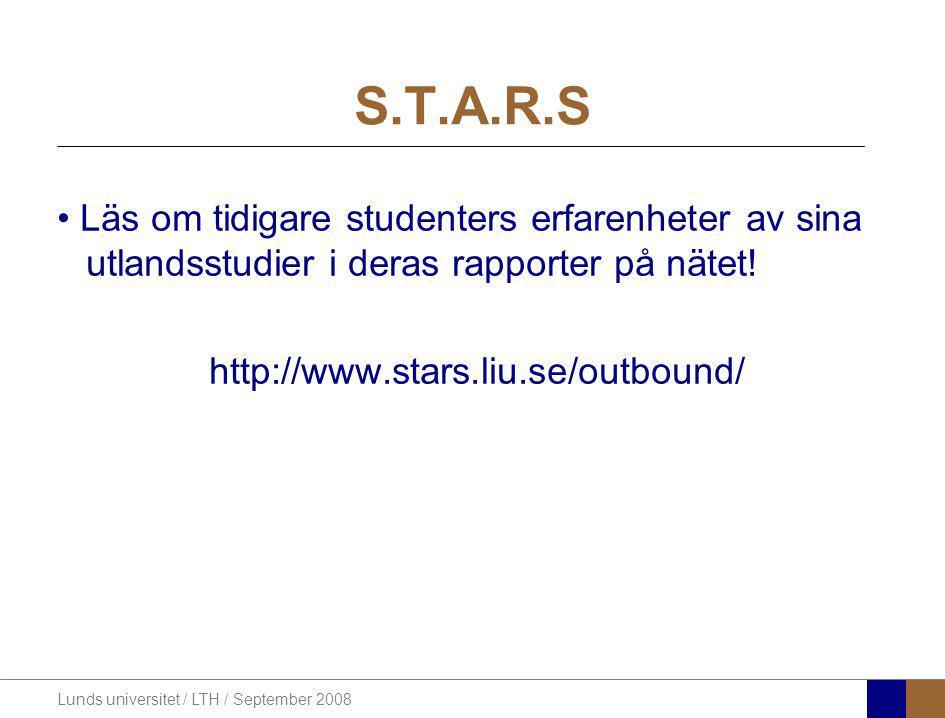 S.T.A.R.S Läs om tidigare studenters erfarenheter av sina utlandsstudier i deras rapporter på nätet!