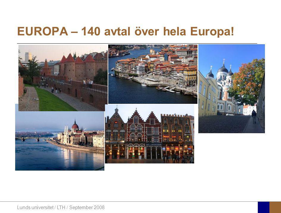 EUROPA – 140 avtal över hela Europa!