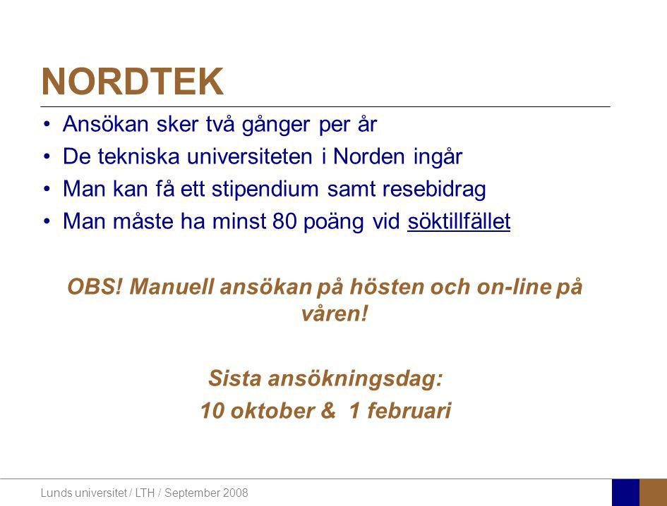 OBS! Manuell ansökan på hösten och on-line på våren!