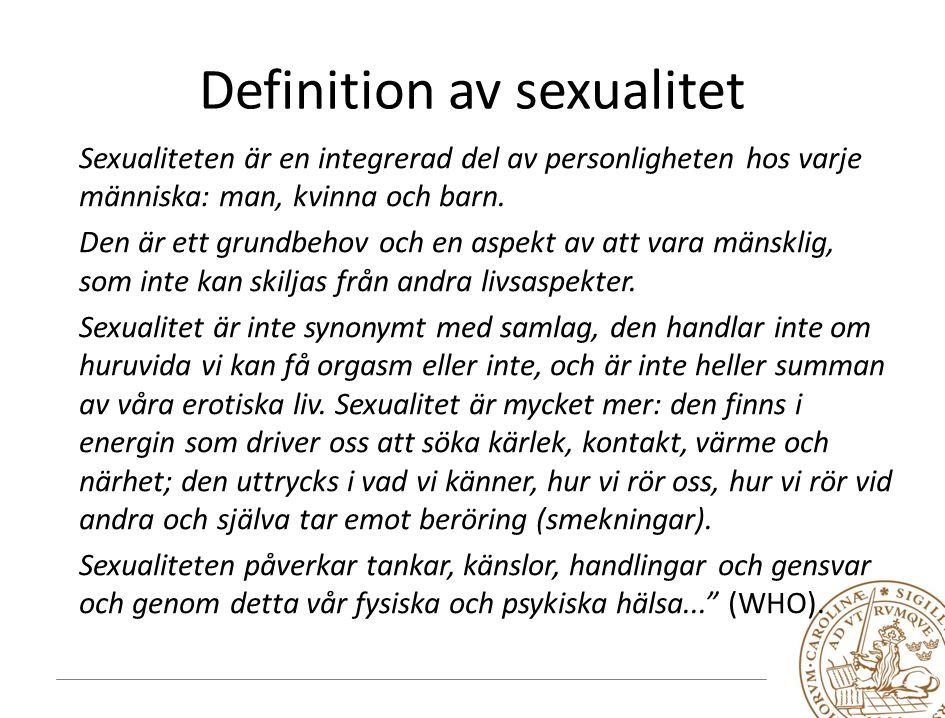 Definition av sexualitet