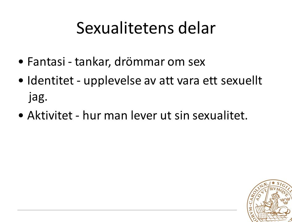 Sexualitetens delar