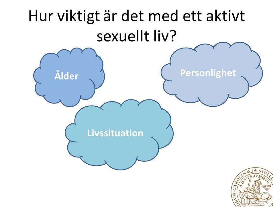 Hur viktigt är det med ett aktivt sexuellt liv