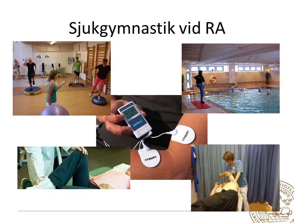 Sjukgymnastik vid RA Beskriv sjukgymnastyrket vid ledsjukdomar