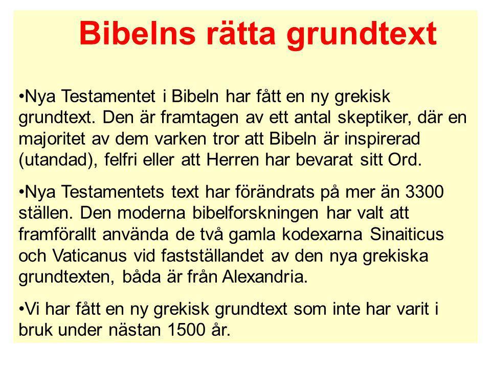 Bibelns rätta grundtext