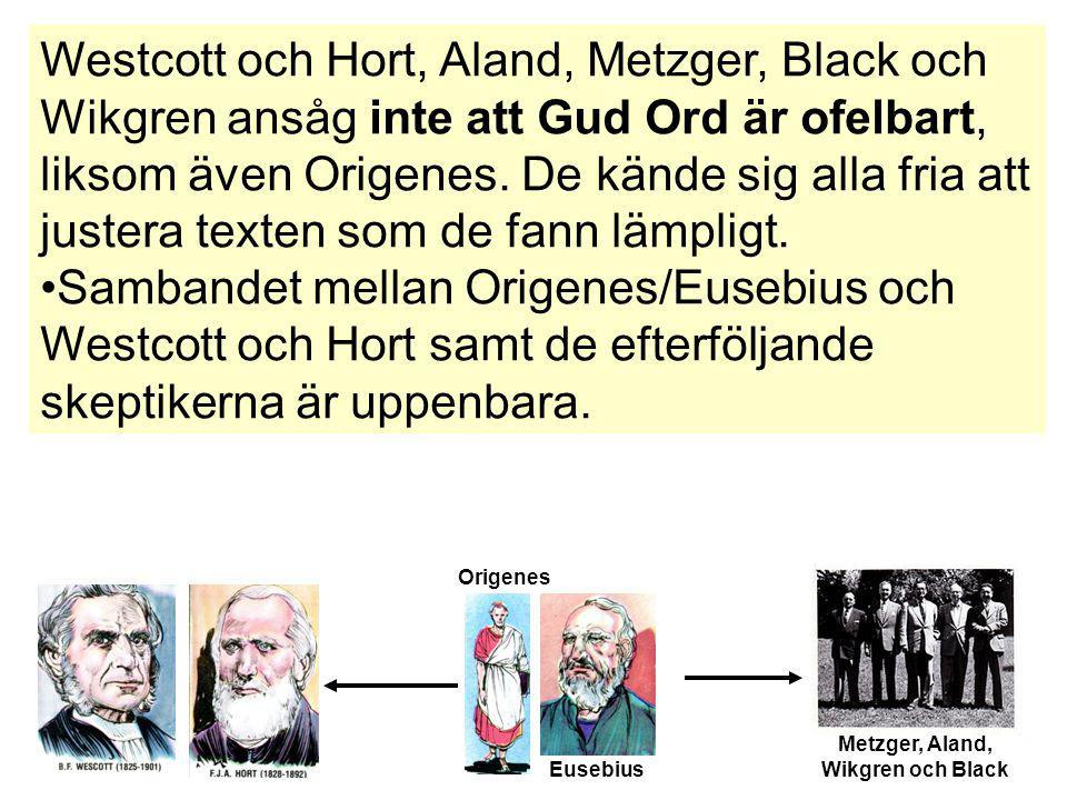 Metzger, Aland, Wikgren och Black