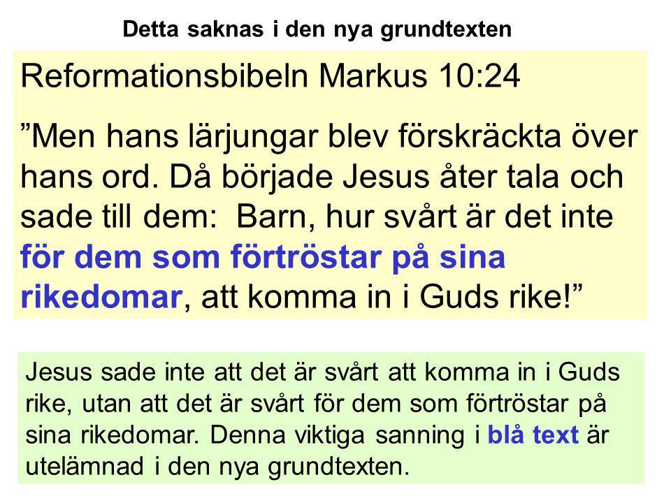 Reformationsbibeln Markus 10:24