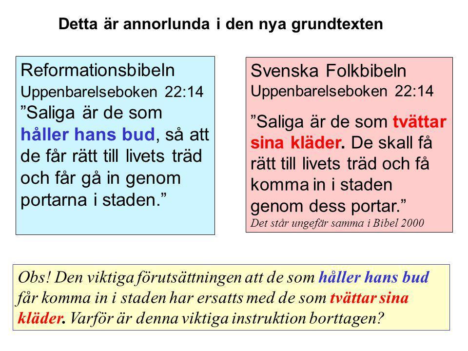 Svenska Folkbibeln Uppenbarelseboken 22:14