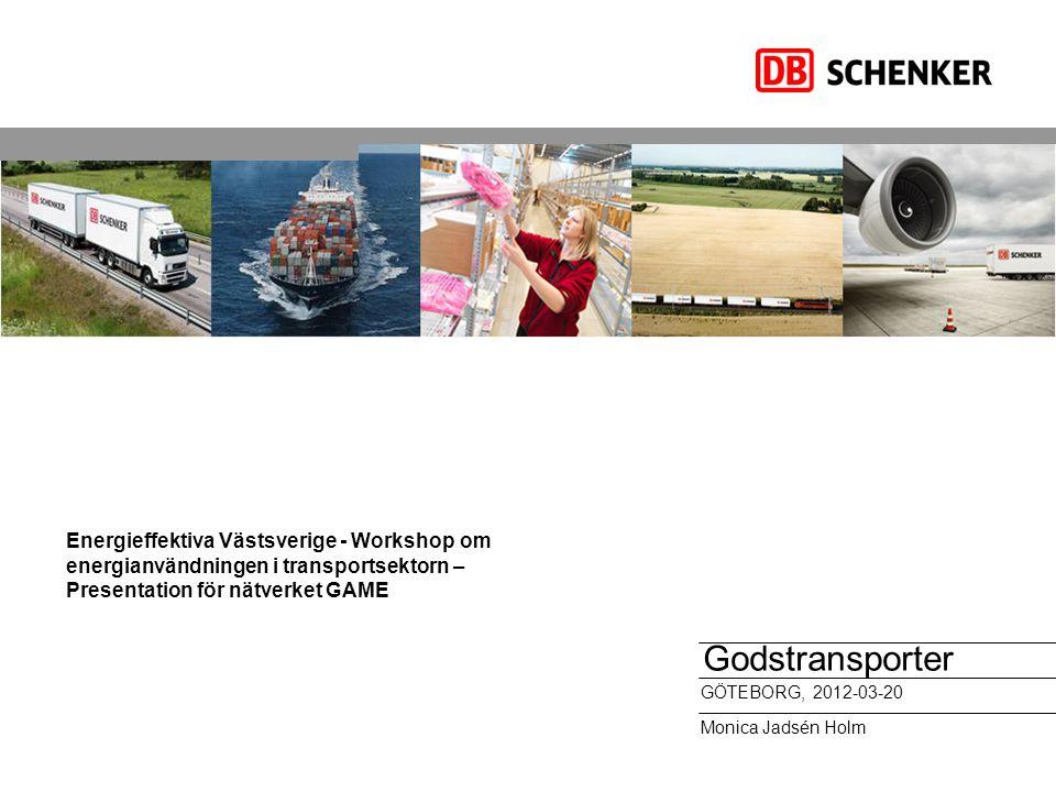 Energieffektiva Västsverige - Workshop om energianvändningen i transportsektorn – Presentation för nätverket GAME