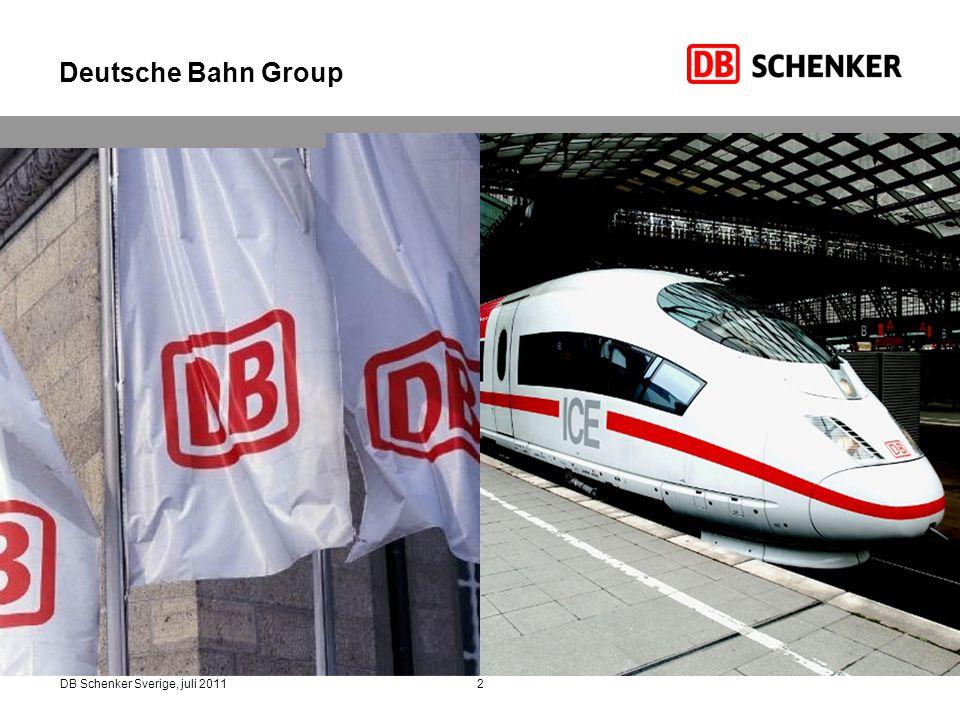 Deutsche Bahn Group DB Schenker Sverige, juli 2011