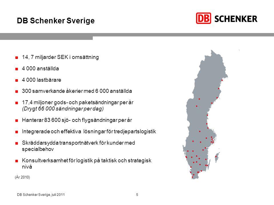 DB Schenker Sverige 14, 7 miljarder SEK i omsättning 4 000 anställda