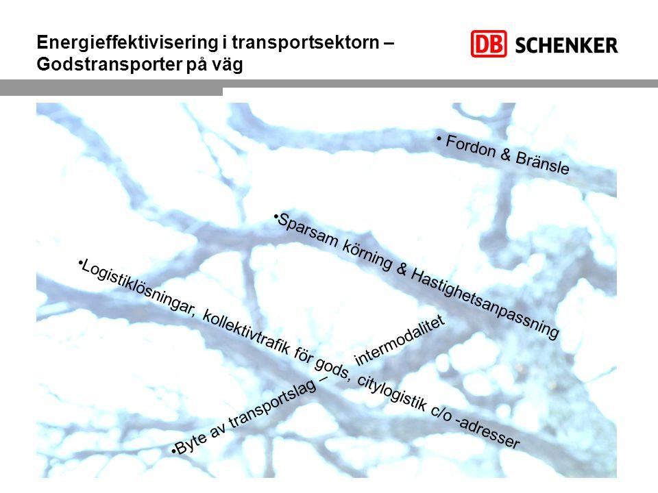 Energieffektivisering i transportsektorn – Godstransporter på väg