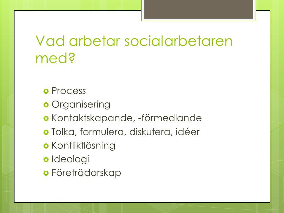 Vad arbetar socialarbetaren med