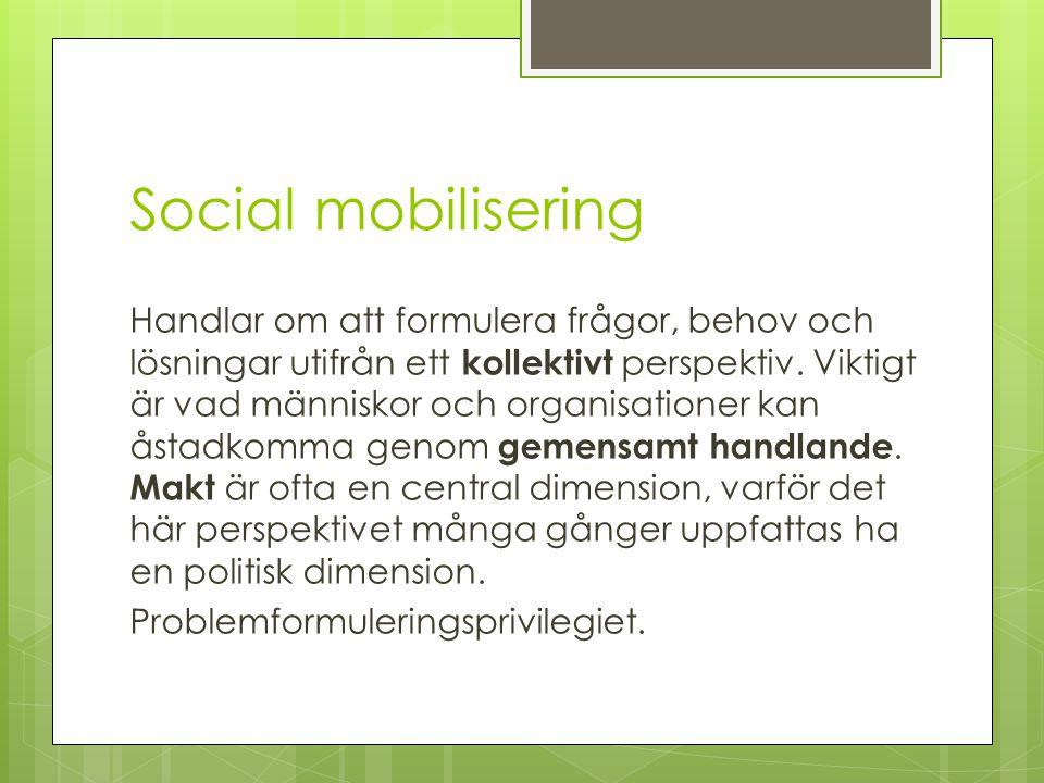 Social mobilisering