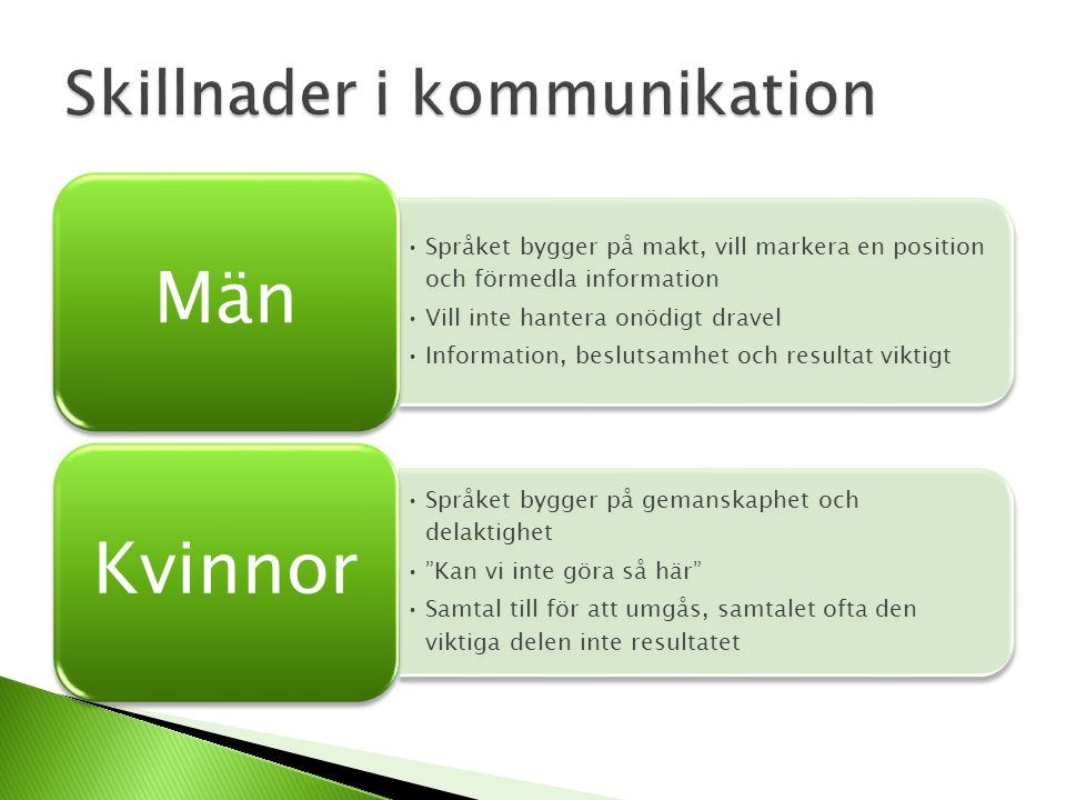 Skillnader i kommunikation
