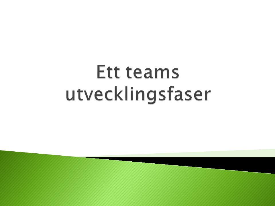 Ett teams utvecklingsfaser