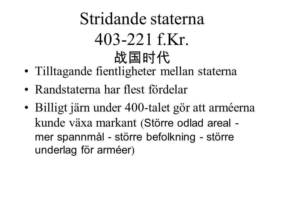 Stridande staterna 403-221 f.Kr. 战国时代