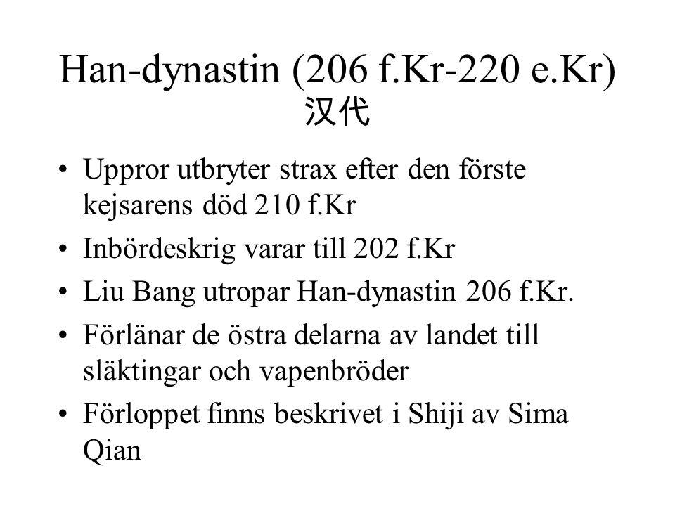 Han-dynastin (206 f.Kr-220 e.Kr) 汉代