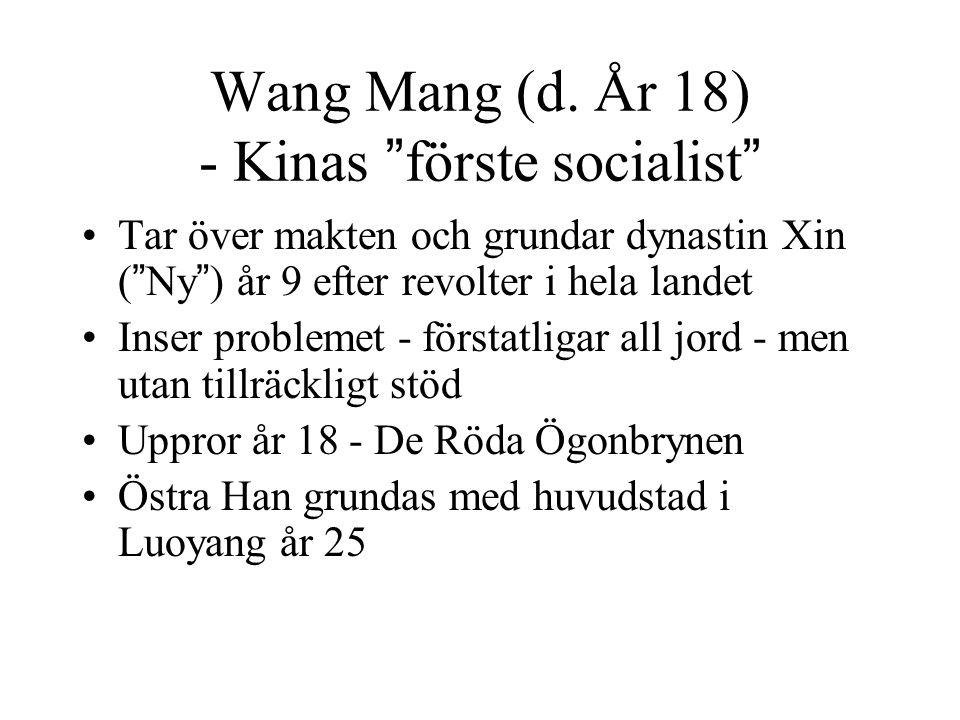 Wang Mang (d. År 18) - Kinas förste socialist