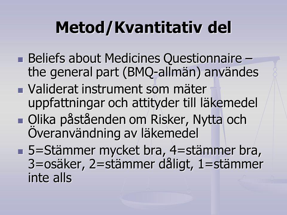 Metod/Kvantitativ del