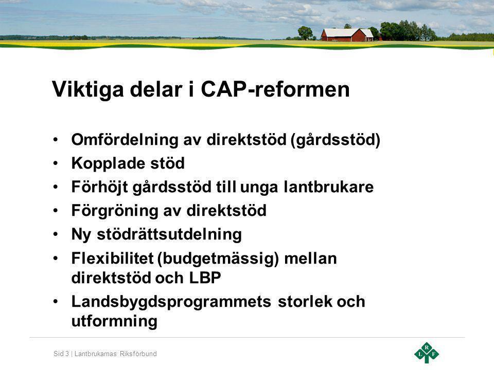 Viktiga delar i CAP-reformen