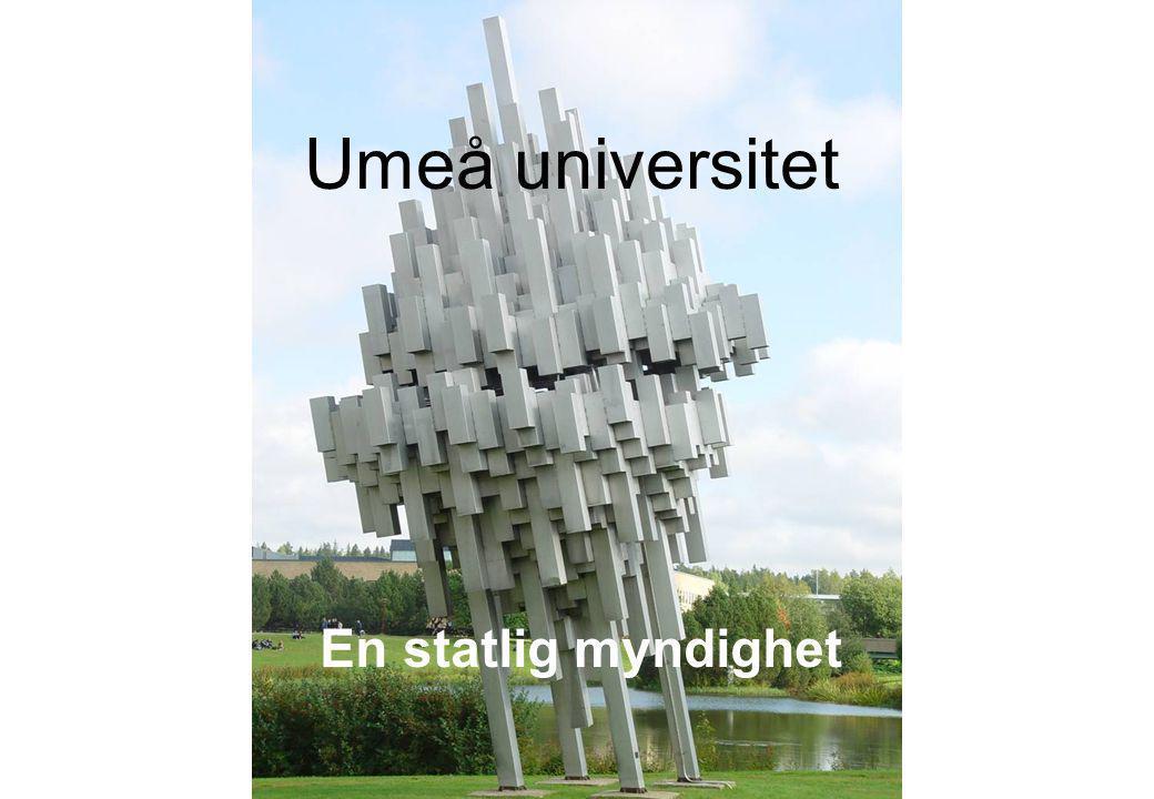 Umeå universitet En statlig myndighet