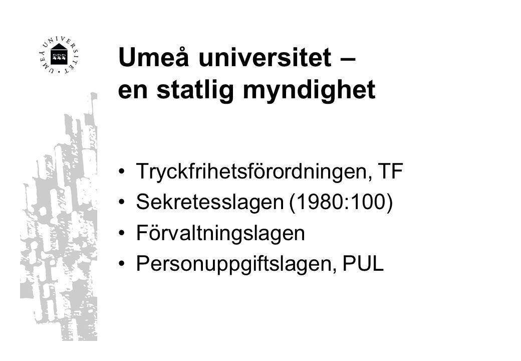Umeå universitet – en statlig myndighet