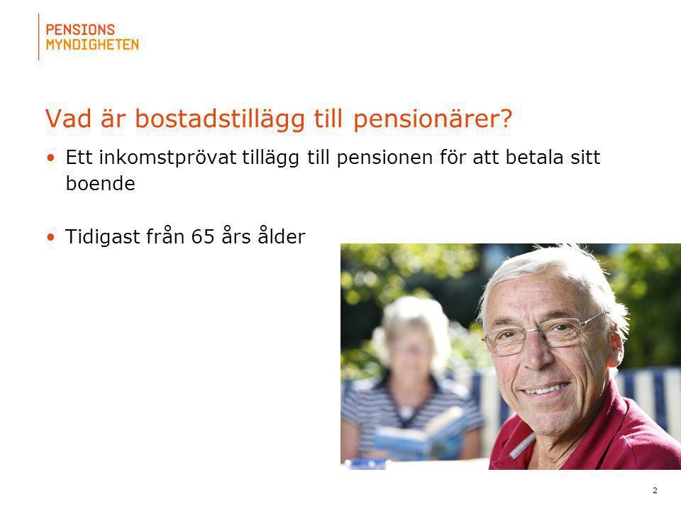 Vad är bostadstillägg till pensionärer