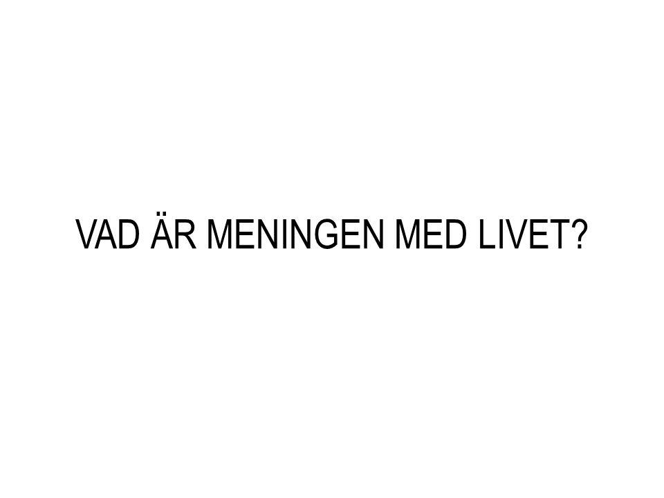VAD ÄR MENINGEN MED LIVET