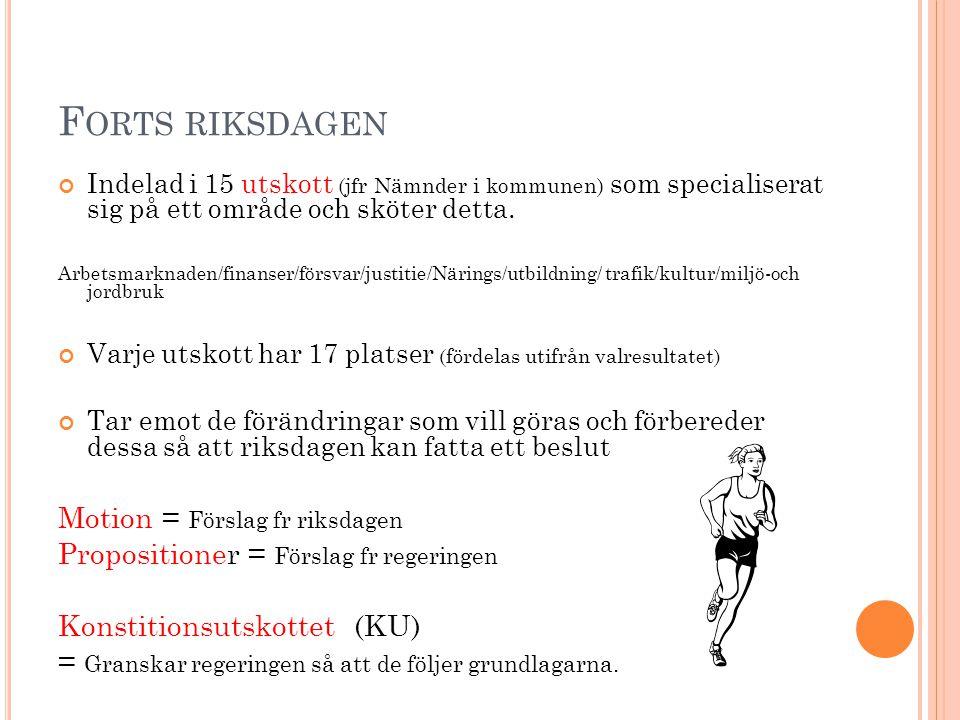 Forts riksdagen Motion = Förslag fr riksdagen