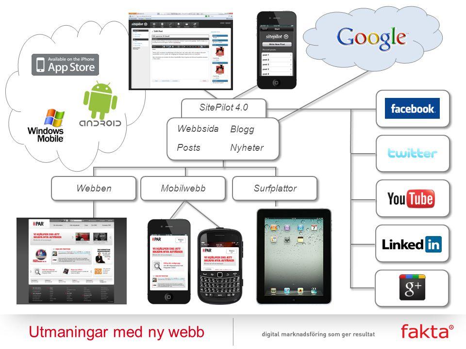 Utmaningar med ny webb SitePilot 4.0 Webbsida Blogg Posts Nyheter