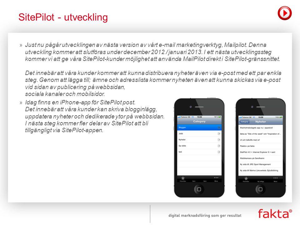 SitePilot - utveckling
