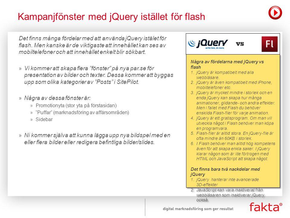 Kampanjfönster med jQuery istället för flash