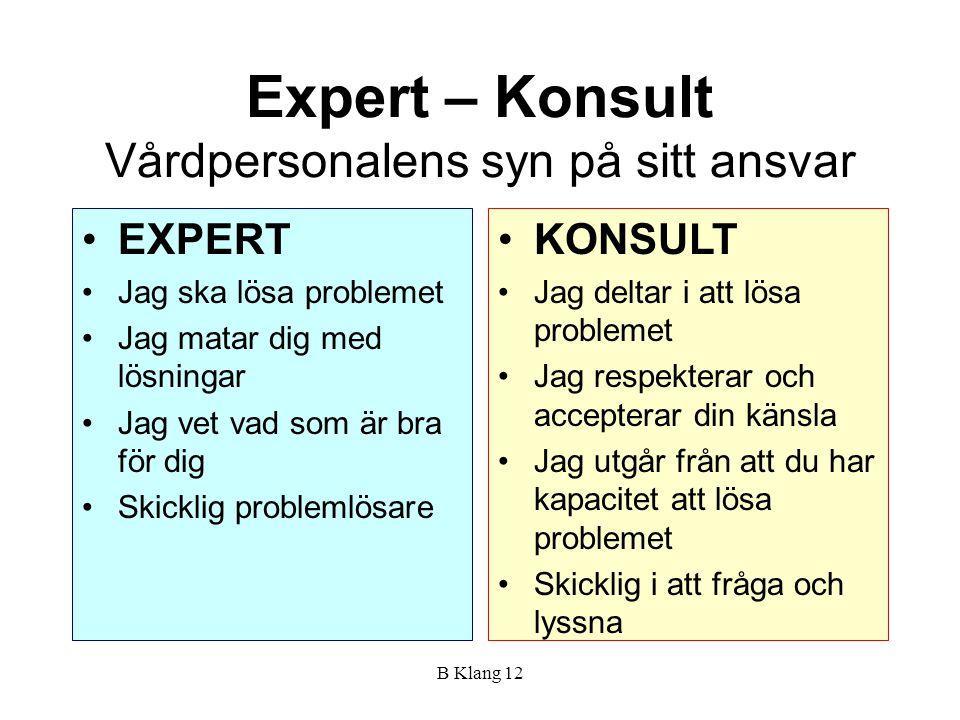 Expert – Konsult Vårdpersonalens syn på sitt ansvar