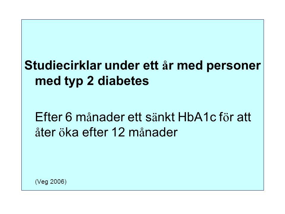 Studiecirklar under ett år med personer med typ 2 diabetes