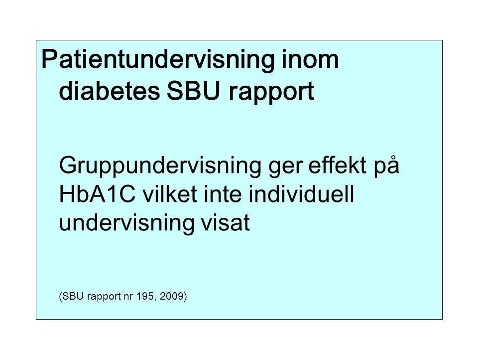 Patientundervisning inom diabetes SBU rapport