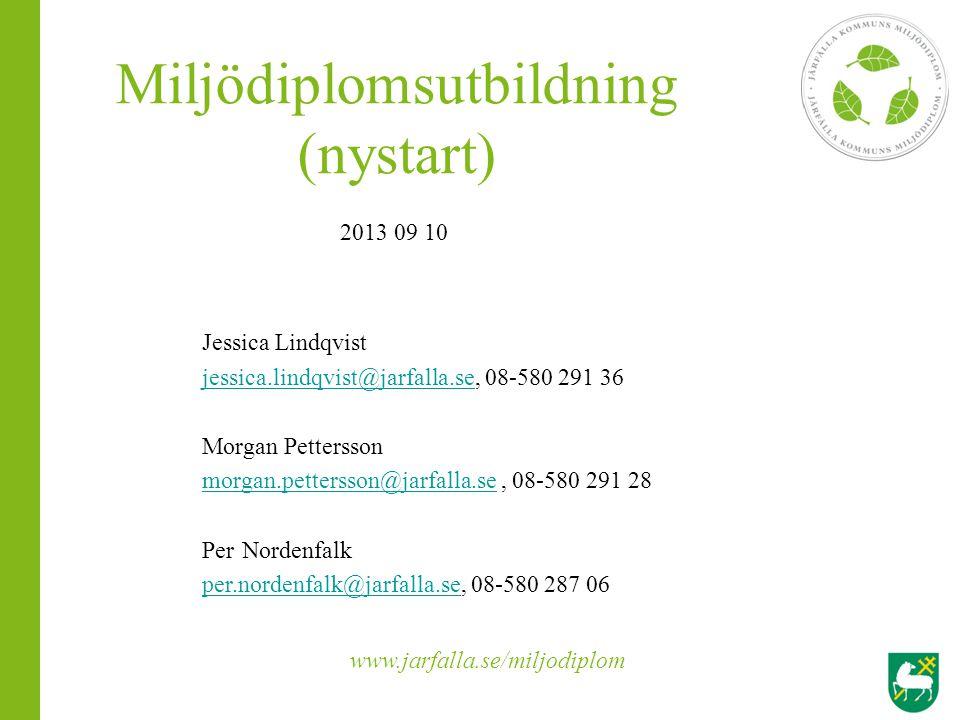 Miljödiplomsutbildning (nystart)
