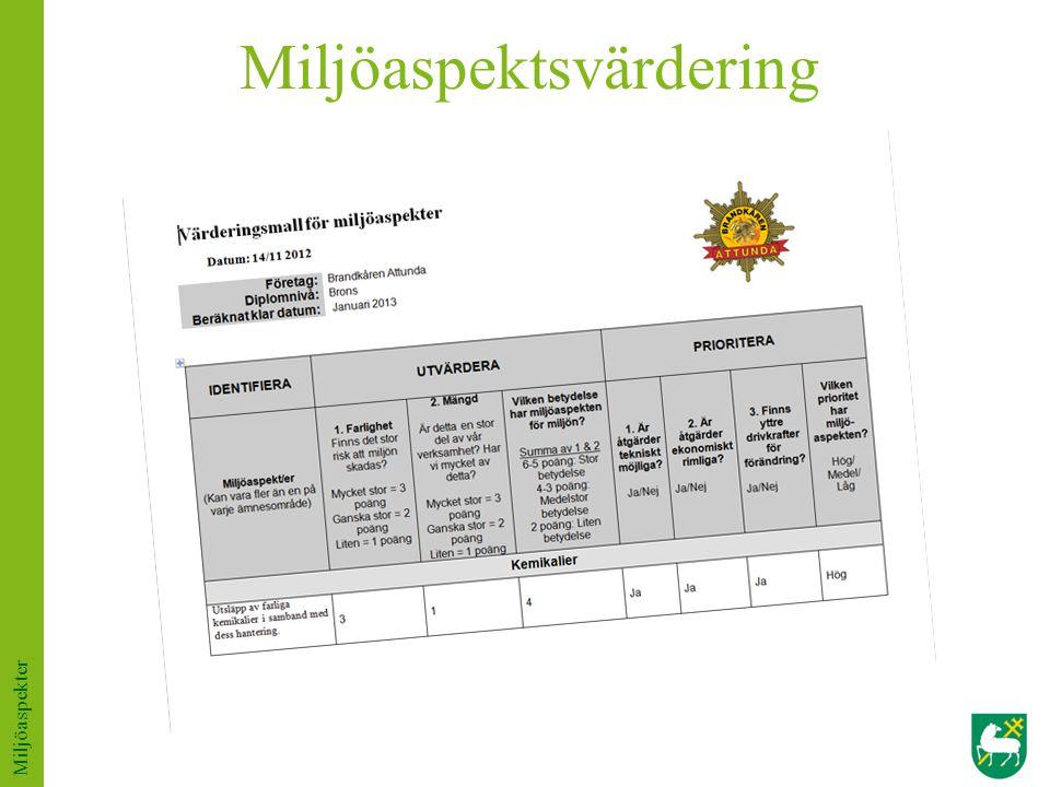 Miljöaspektsvärdering