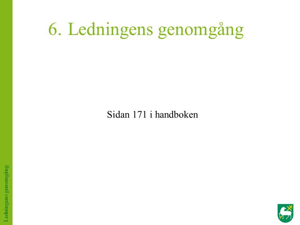 Ledningens genomgång Sidan 171 i handboken Ledningens genomgång