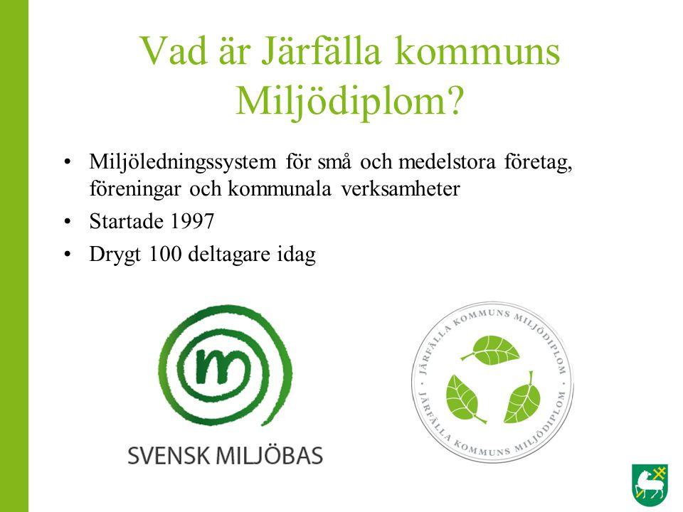 Vad är Järfälla kommuns Miljödiplom