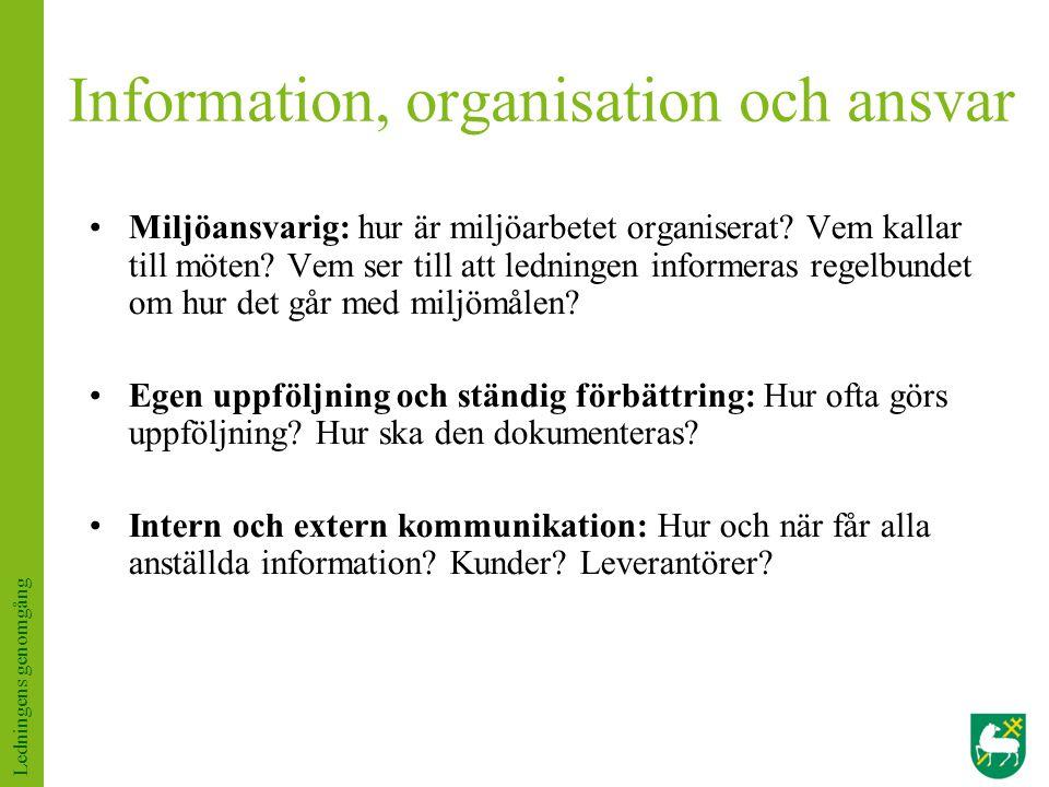 Information, organisation och ansvar