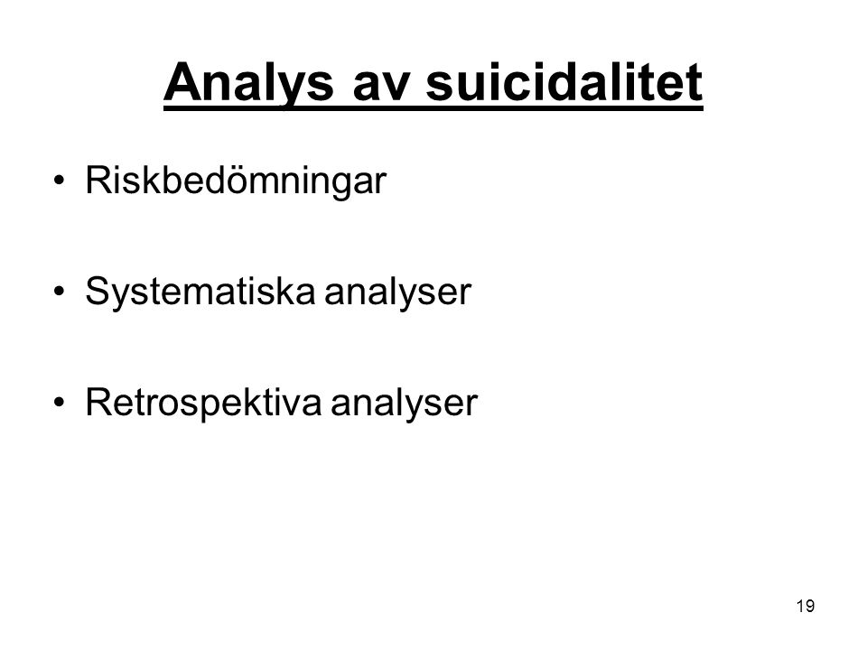Analys av suicidalitet