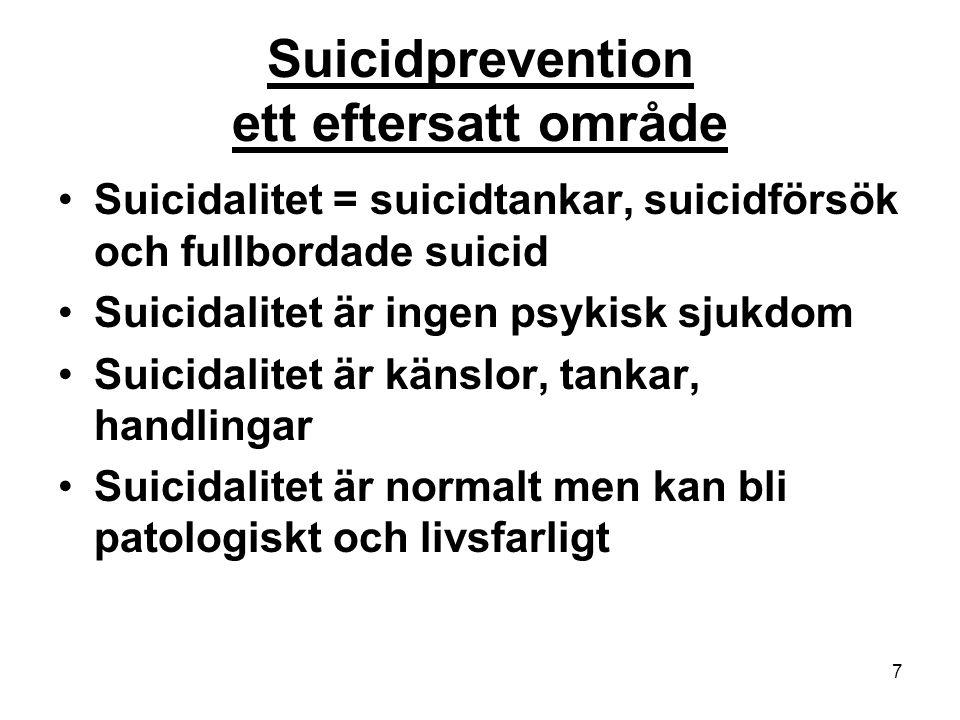 Suicidprevention ett eftersatt område