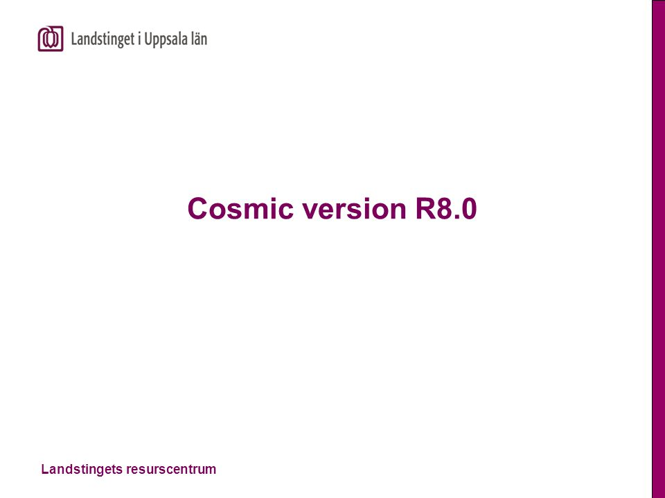 Cosmic version R8.0