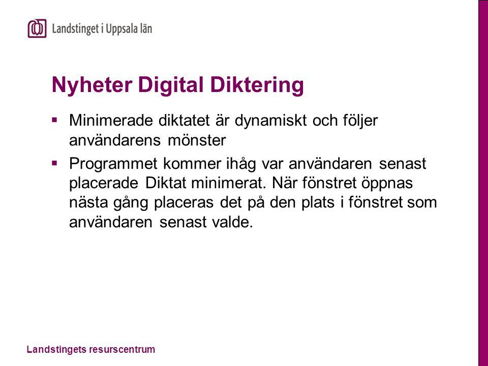 Nyheter Digital Diktering