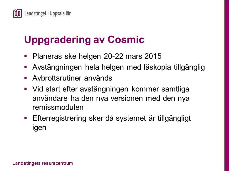 Uppgradering av Cosmic