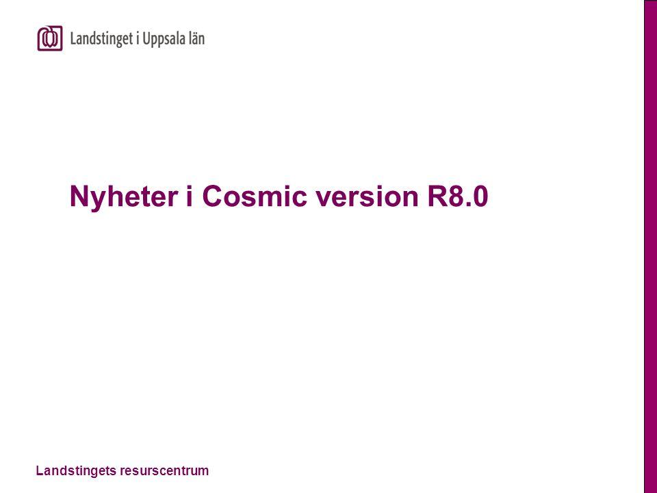 Nyheter i Cosmic version R8.0