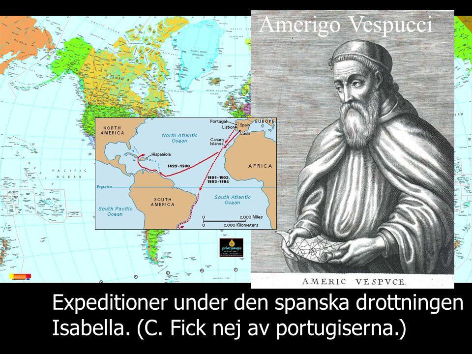 Amerigo Vespucci Expeditioner under den spanska drottningen