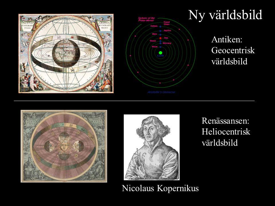 Ny världsbild Antiken: Geocentrisk världsbild Renässansen:
