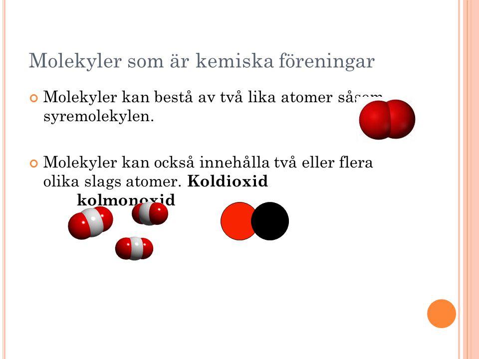 Molekyler som är kemiska föreningar